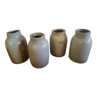 Glazed Pottery Vessels - Set of 4 For Sale