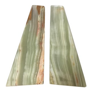 Italian Marble Bookends - A Pair