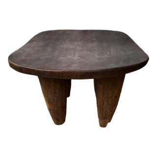Old African Square Senufo Stool Cote d'Ivoire For Sale