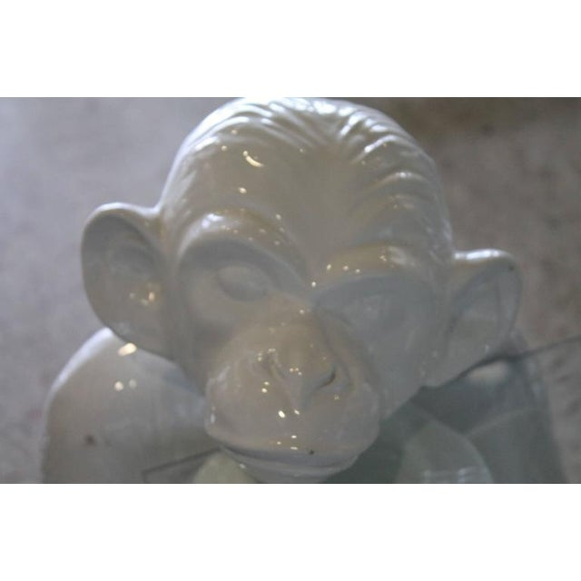 Vintage Italian Chinoiserie Ceramic Monkey Coffee Table For Sale In West Palm - Image 6 of 11