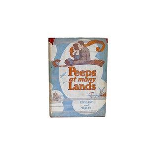 "Vintage ""Peeps at Many Lands England & Wales"" Children's Adventure Book"