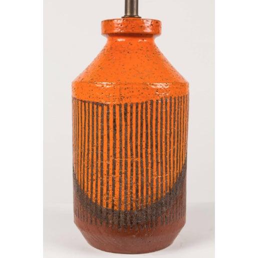 Bitossi Bitossi Hand-Glazed Orange Studio Lamp For Sale - Image 4 of 6