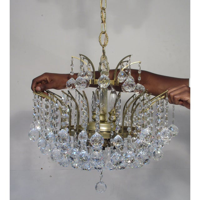 Antique Chandelier with Crystal Balls - Image 6 of 7