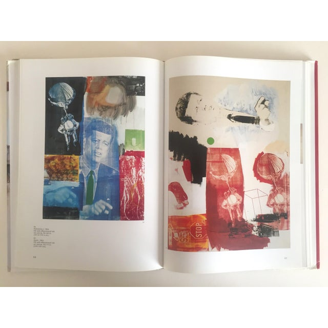 """This rare first edition collector's hardcover Pop Art book titled """" Robert Rauschenberg """" features a monograph survey..."""