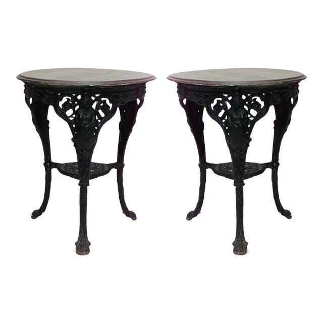 Outdoor English Victorian Iron Pub Tables For Sale