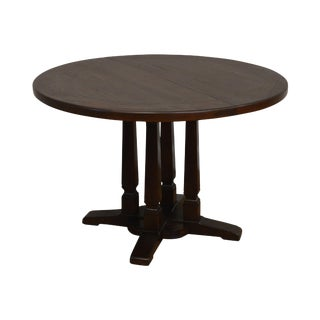 """Romwebe Viking Oak 44"""" Round Dining Table With 4 Leaves For Sale"""