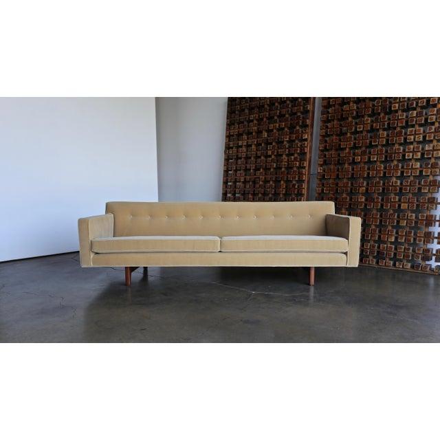 Dunbar Furniture Edward Wormley for Dunbar Bracket Back Sofa, Circa 1955 For Sale - Image 4 of 13