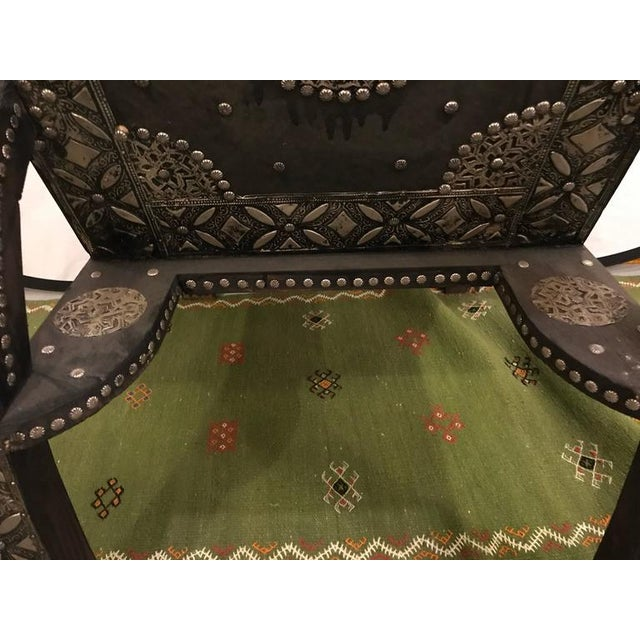 Royal Style Camel Bone Armchair For Sale - Image 10 of 10