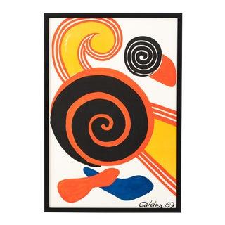 1969 Alexander Calder Spirals Newly Framed Lithograph For Sale