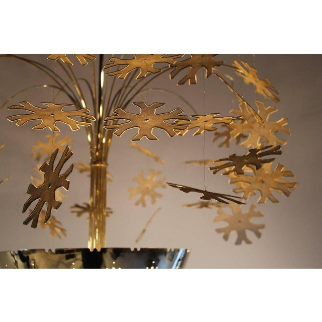 Taito Oy Magnificent Paavo Tynell Snowflake Chandelier For Sale - Image 4 of 10