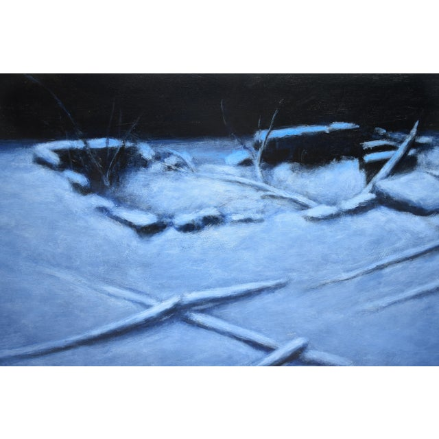 """2010s Contemporary Painting, """"Old Cellar Hole in the Woods"""" by Stephen Remick For Sale In Providence - Image 6 of 11"""
