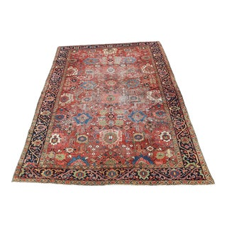 "19th Century Persian Heriz Rug - 11′8″ × 8′5"" For Sale"