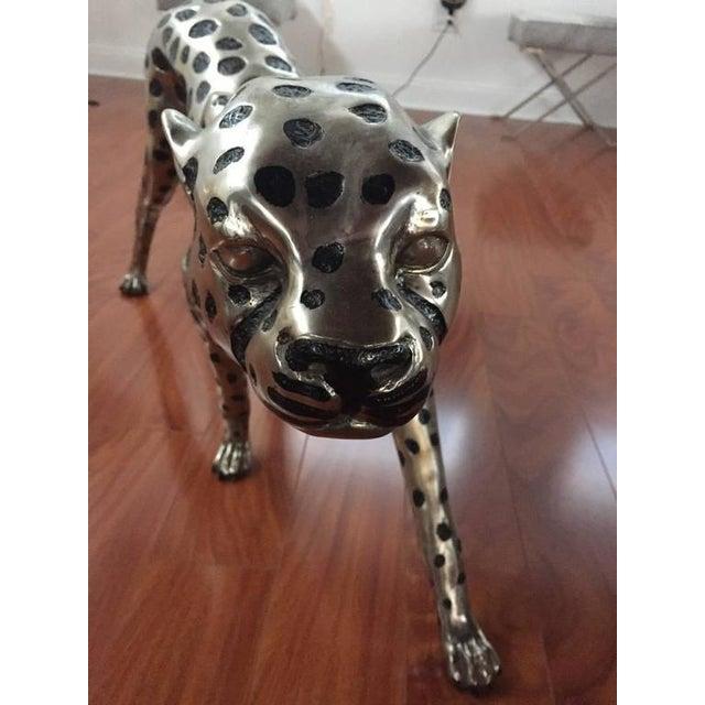 Figurative Cheetah Metal Sculpture For Sale - Image 3 of 9