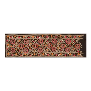 Vintage Uzbek Suzani Runner Textile- 1'10″x 7'1″ For Sale