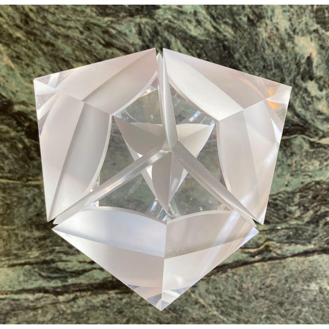 1970s Italian Alessio Tasca Lucite Cube For Sale - Image 12 of 13