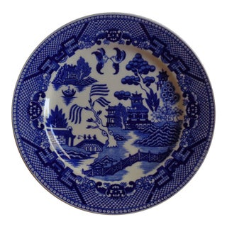 Mid-Century Blue Willow Japanese Plate For Sale