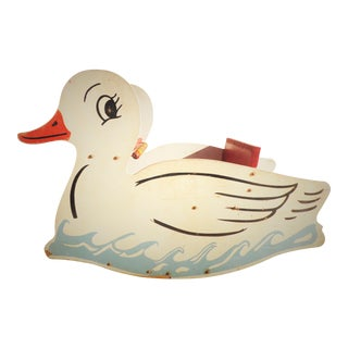Vintage Wooden Duck Rocker For Sale