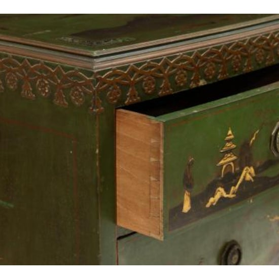 Mid 20th Century Chinoiserie Decorated Bow Front Chest of Drawers For Sale - Image 5 of 8