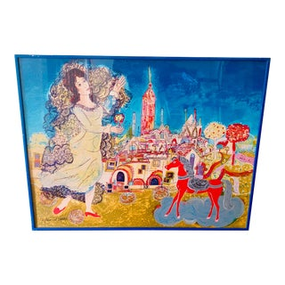 "Agustín Ubeda Signed and Numbered Lithograph ""La Jeune Princesse"" For Sale"