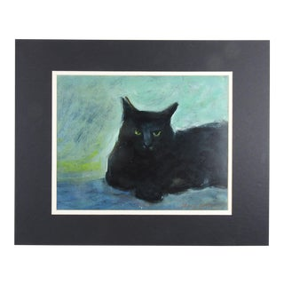Black Cat Giclee Print For Sale