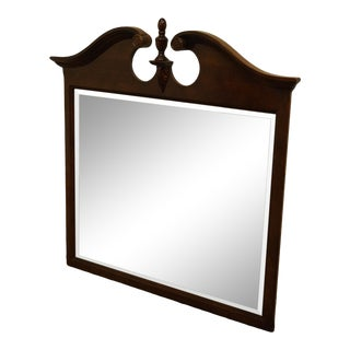 Late 20th Century Universal Furniture Carlisle Collection Solid Cherry Traditional Chippendale Style Dresser/Wall Mirror For Sale