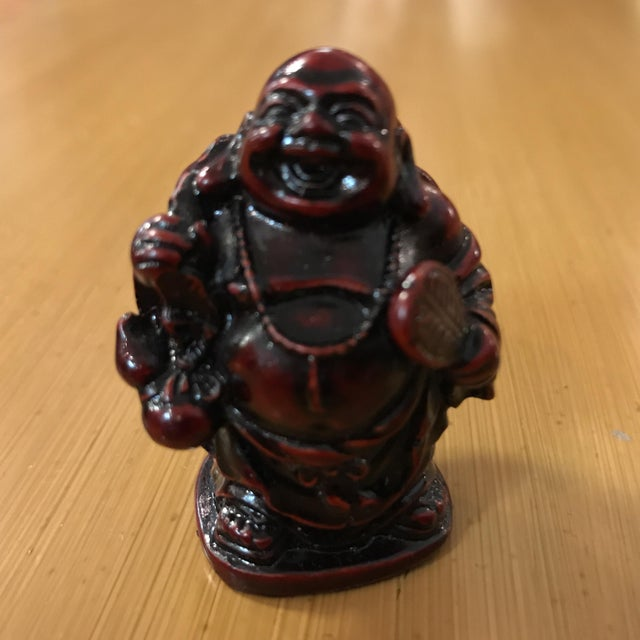 Antique Table Decor Buddha Statue Collectable Religious: Collection Of 4 Vintage Miniature Buddha Statues