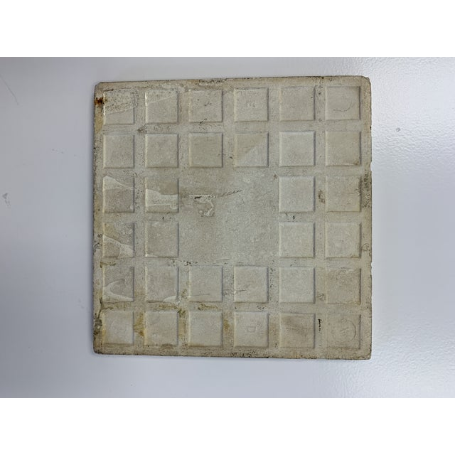 Late 19th Century Antique French Floral Motif Tile For Sale - Image 5 of 6
