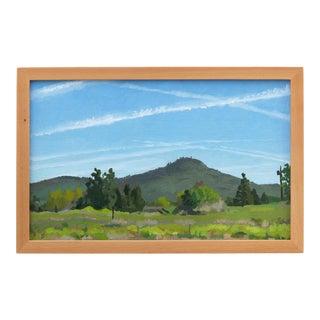 """Springtime on Spring Street"" Contemporary Landscape Oil Painting, Framed For Sale"