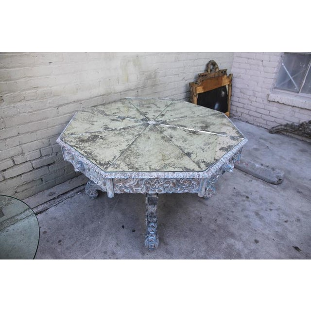 French Provincial Octagonal Painted Center Dining Table - Image 4 of 8