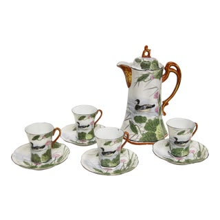 Japanese Porcelain Chocolate Set, 10 Pcs