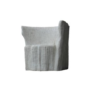 Cast Resin 'Acacia' Chair, Natural Concrete Finish by Zachary A. Design Preview