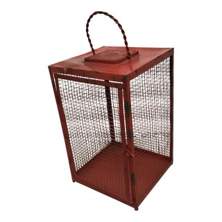 Red Painted Decorative Lantern For Sale