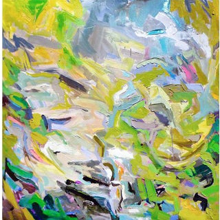 "Abstract Oil Painting by Trixie Pitts ""Fresh Air"""