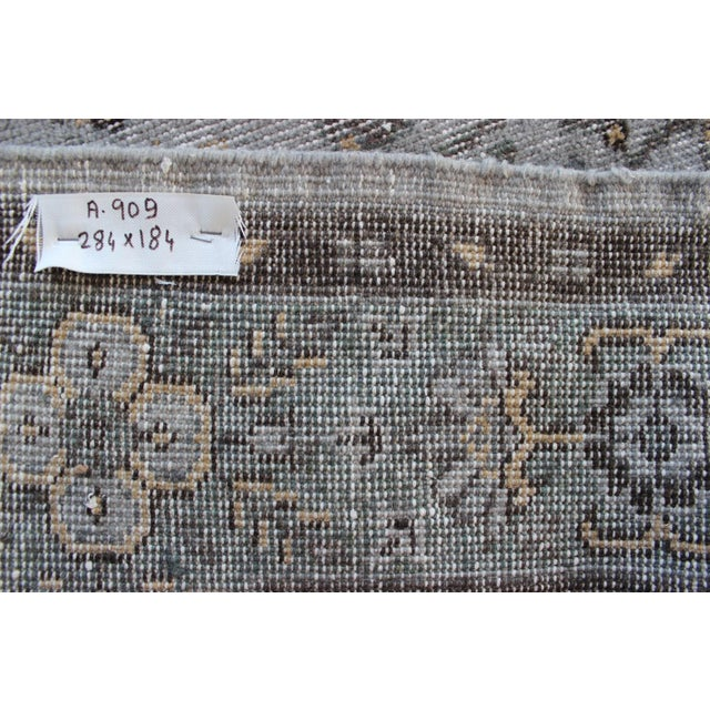 "Vintage Gray Turkish Over-Dyed Rug - 6' x 9'3"" - Image 10 of 10"