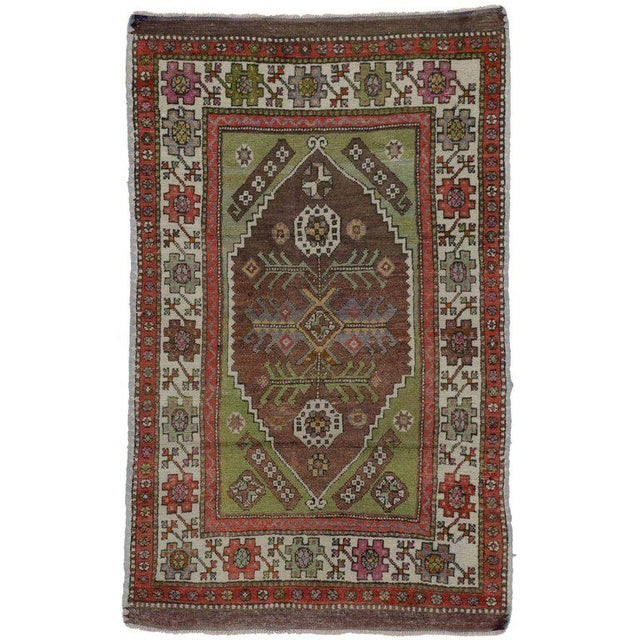Late 20th Century 1970s Turkish Oushak Rug - 3′2″ × 4′10″ For Sale - Image 5 of 5