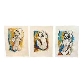 """To Be a Woman"" Painting Collection - Set of 3"