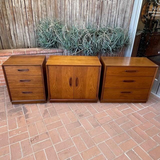 Henredon 'Circa 60' Walnut Cabinets - Set of 3 For Sale - Image 13 of 13