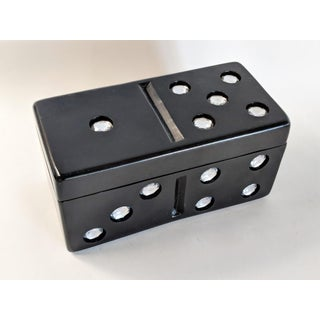 1980s Modern Rhinestone Domino Trinket Box Preview