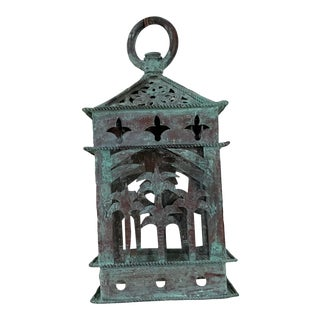 1960s Vintage Hanging Copper Lantern For Sale