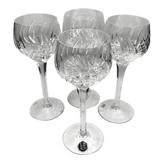 20th Century Edwardian Stuart Crystal Contessa Hock Glasses - Set of 4 For Sale