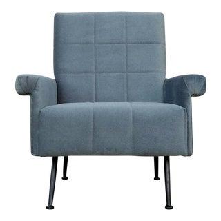 Modern Dusty Blue Chair