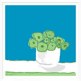 """""""Rose Vase in Blue"""" By Dana Gibson, Framed Art Print For Sale"""