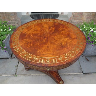 Vintage Theodore Alexander Round Inlaid Mahogany Center Table Preview