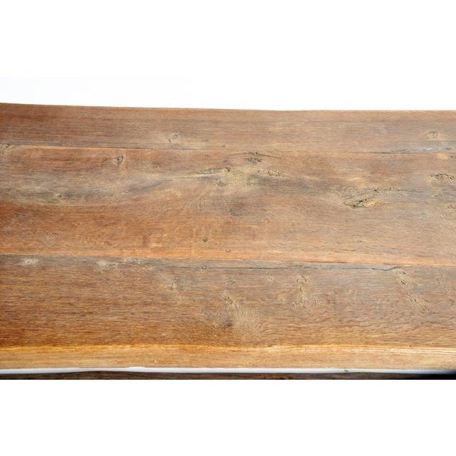 Wood 19th Century Swiss Oak Wood Farm Table For Sale - Image 7 of 13