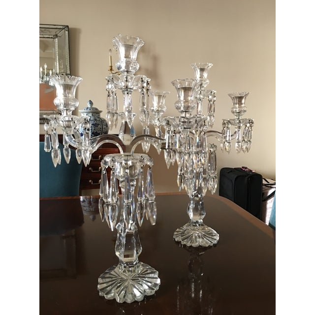 Antique Crystal Candelabras - A Pair - Image 3 of 5