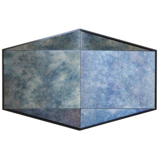 Contemporary Gem Mirror Cobalt Blue by Robert Sukrachand, Made in Usa For Sale