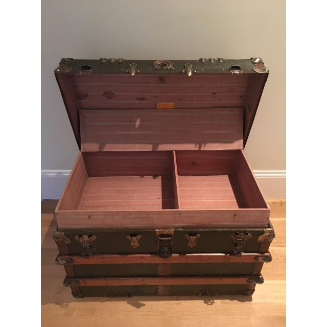 Antique English Steamer Trunk - Image 9 of 10