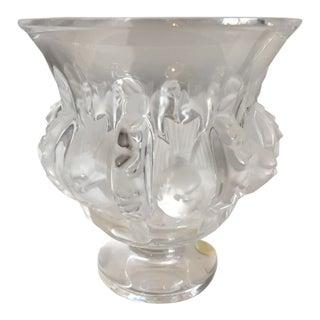 Lalique Crystal Dampierre Vase For Sale
