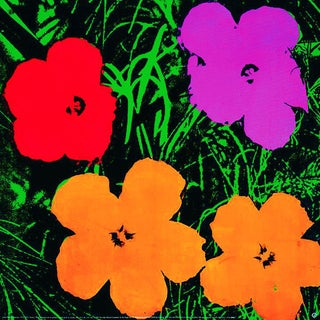 1993 Large Flowers Poster by Andy Warhol For Sale