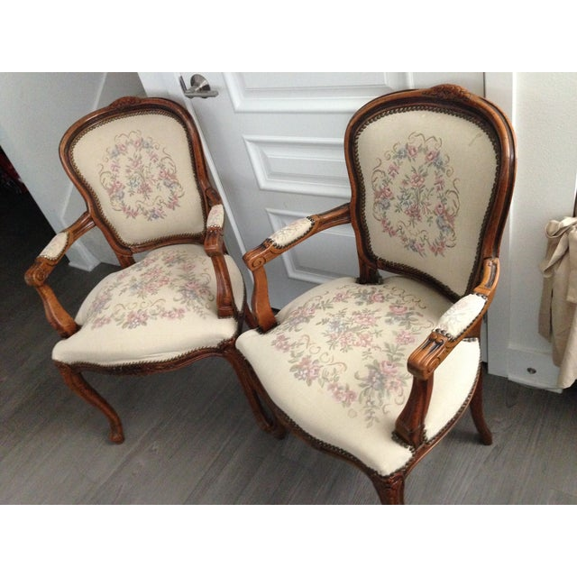 Vintage Chateaux d'Ax Italian Armchairs - Pair For Sale - Image 7 of 7